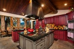 Gourmet Kitchen with Alder Wood Cabinets