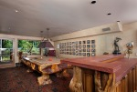 Custom Billiards Room with Bar